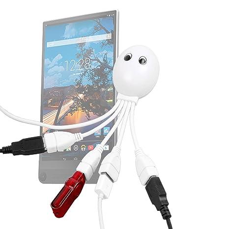 Hub USB 4 puertos, diseño de pulpo para tablets Toshiba Satellite Mini Click Dell Venue