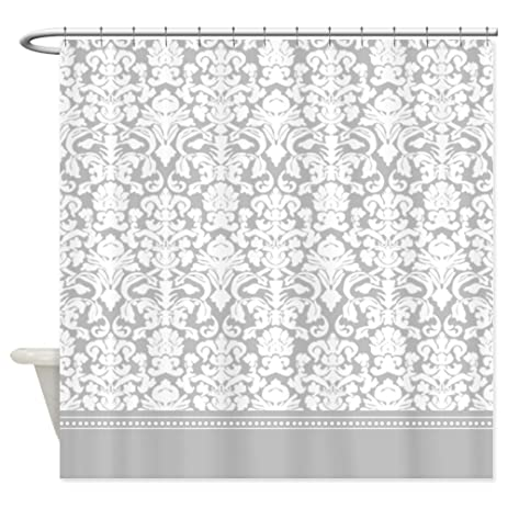 Amazon.com: CafePress - Gray Damask Shower Curtain - Decorative ...