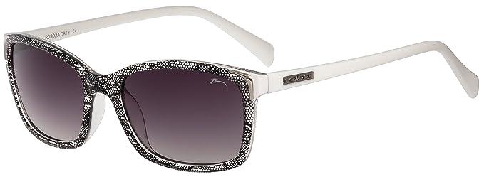 Sonnenbrille Damen RELAX Caesarea R0302 (R0302A Weiß / Gläser Rauch gradient) UUGOu