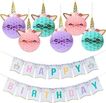 Amazon.com: Unicornio decoración de fiesta, unicornio feliz ...
