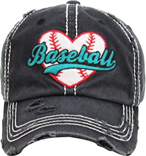 Funky Junque Womens Baseball Cap Distressed Vintage Unconstructed  Embroidered Dad Hat ffb3a794f2bb