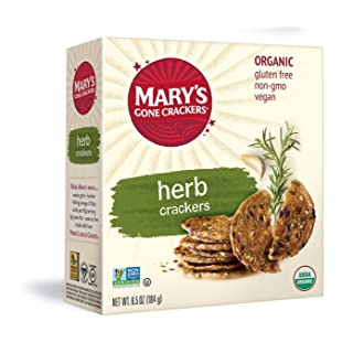 Mary's Gone Crackers Herb Crackers, Organic Brown Rice, Flax & Sesame Seeds, Gluten Free, 6.5 Ounce (Pack of 6)