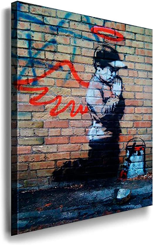Imagen del lienzo banksy graffiti Street Art-arte impresiones murales imágenes K póster