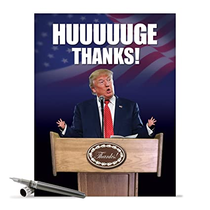 j2557tyg jumbo funny thank you card trump huuuuuge thanks with envelope extra large version