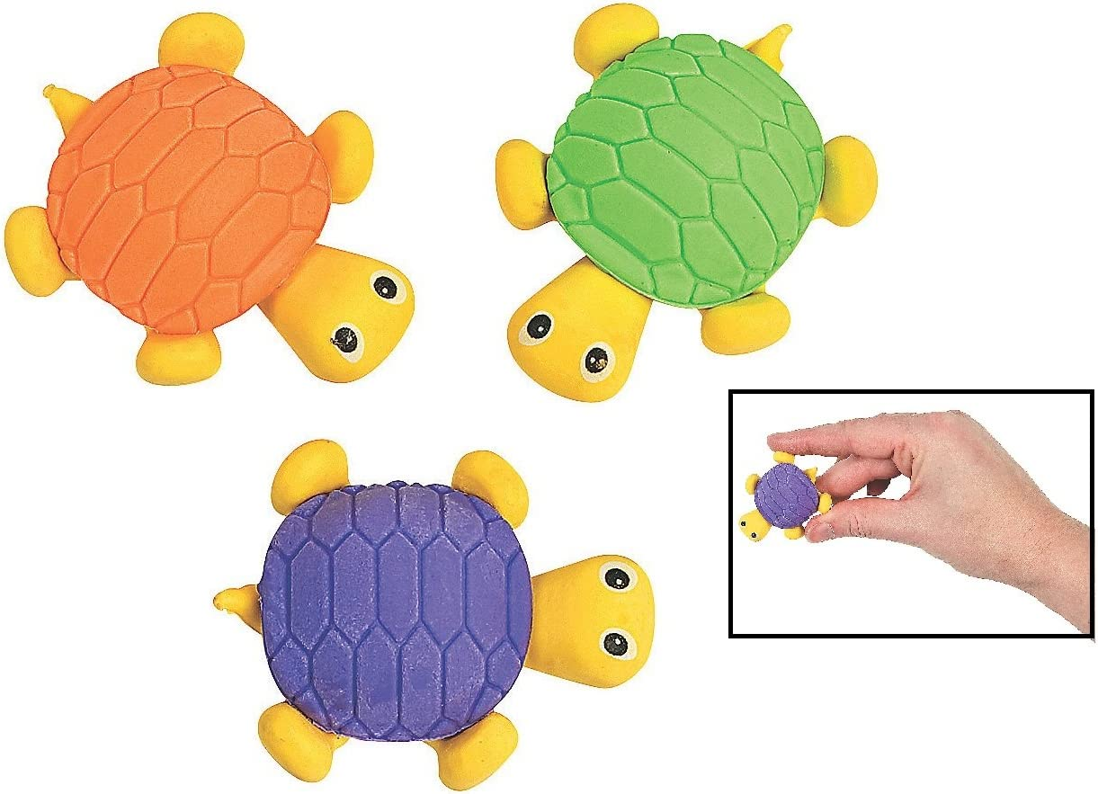 Cute Funny Novelty Pencil Eraser Kid Gift Toy for Party Supplies Favors DoyiFun 12pcs Turtle Pencil Erasers