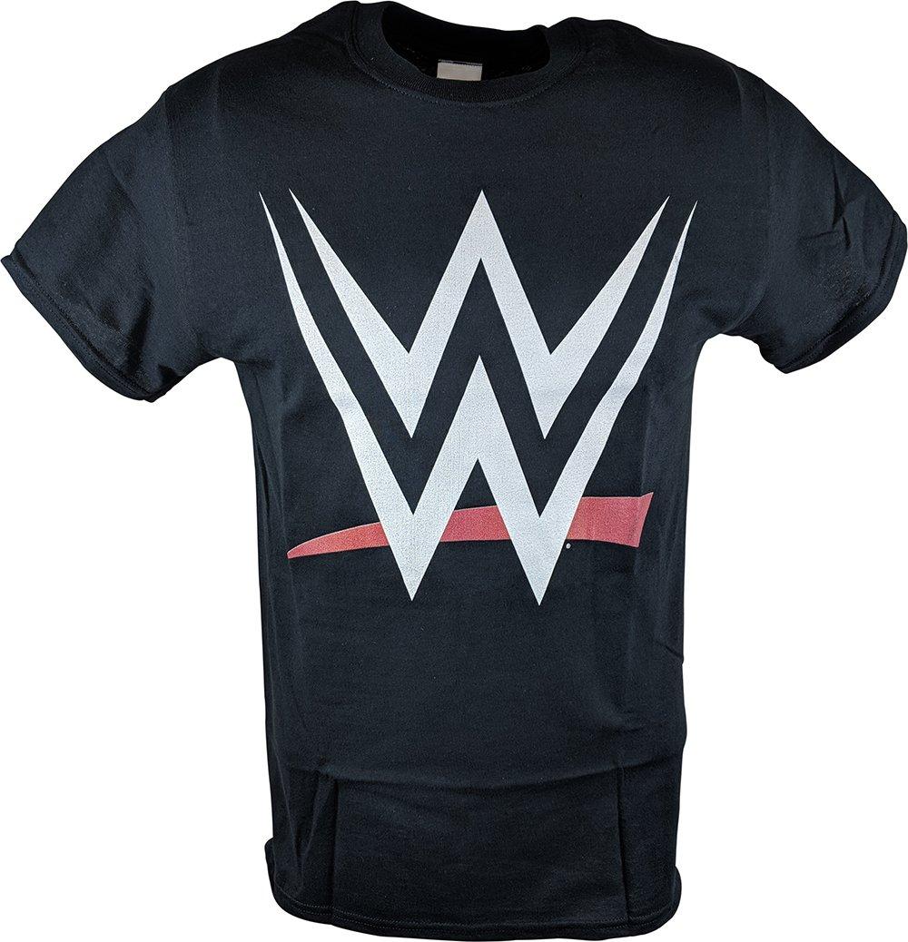 WWE 2015 New Logo World Wrestling Entertainment Mens Black T-Shirt-L