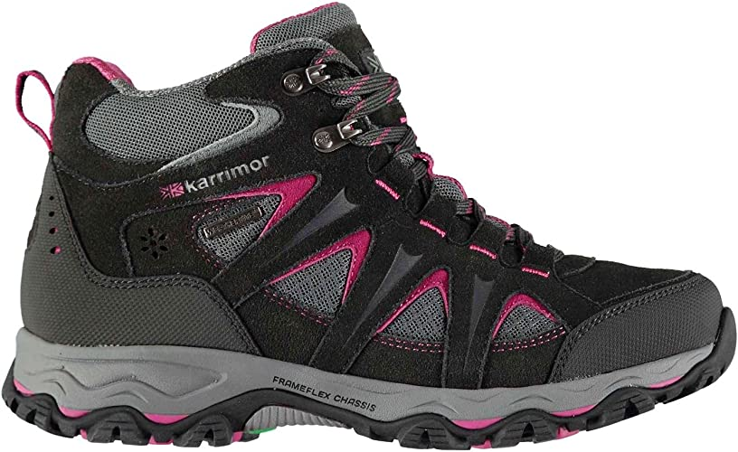 Karrimor Womens Skiddaw Walking Boots Lace Up Waterproof Breathable Shoes
