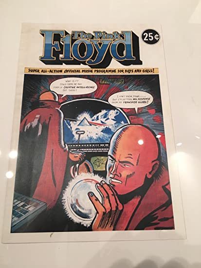 Pink Floyd reproducción de la original 16 página de cómic Tour programa de promoción de la