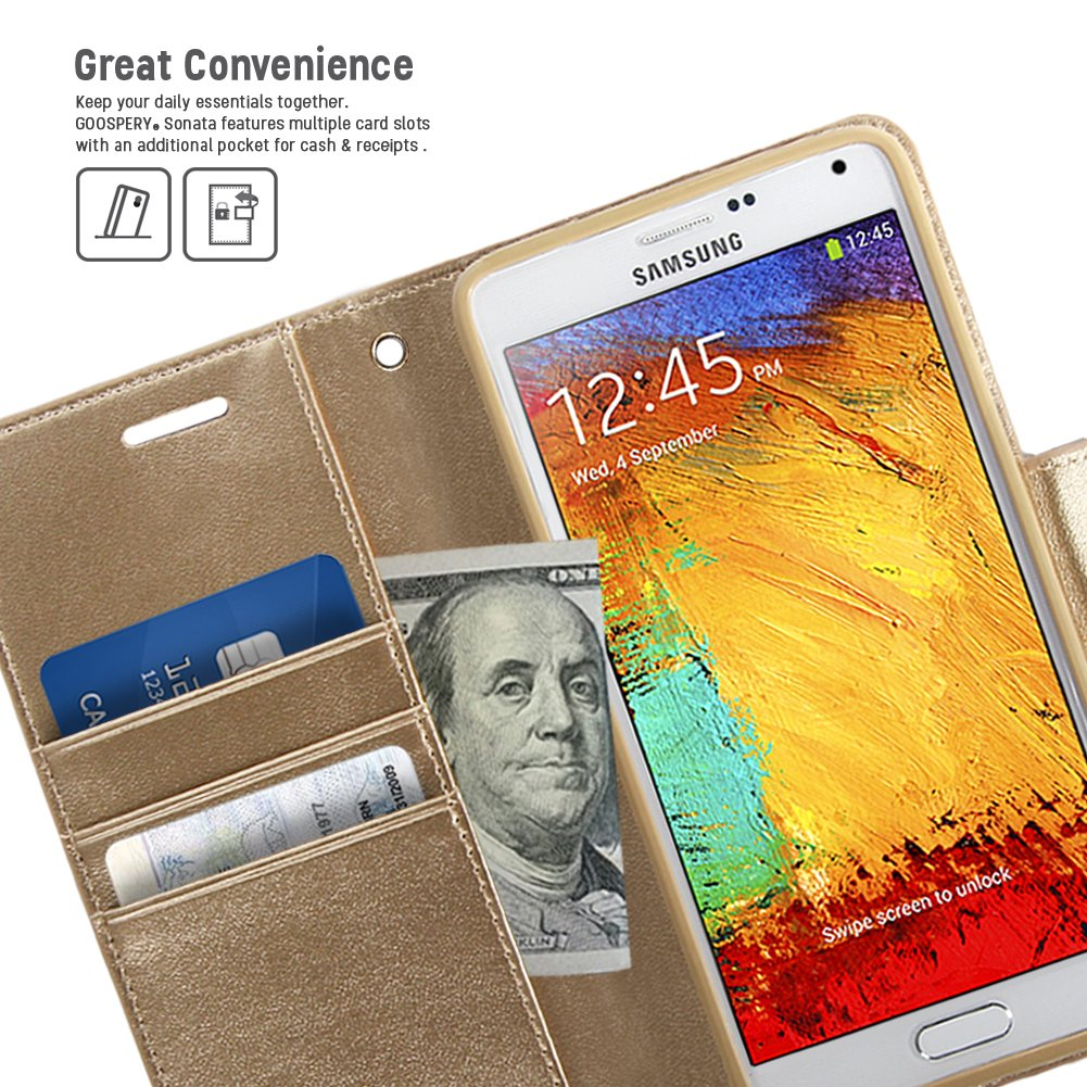 Galaxy Note 3 Case Drop Protection Goospery Sonata Samsung 8 Fancy Diary Navy Lime Premium Synthetic Leather Wallet Type Id Credit Card Slots Cash Pocket Cover