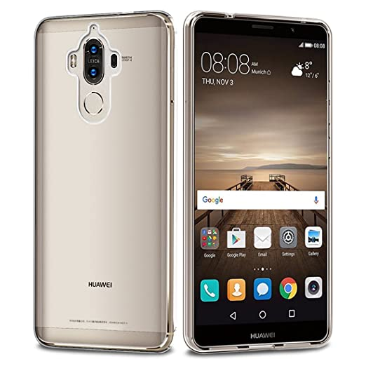8 opinioni per Huawei Mate 9 Custodia , Ubegood Mate 9 Case Bumper [Shock-Absorption] Soft TPU