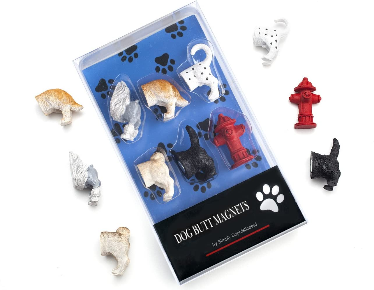 Dog Butt Refrigerator Magnets for Dog Lovers Home and Office Decorations