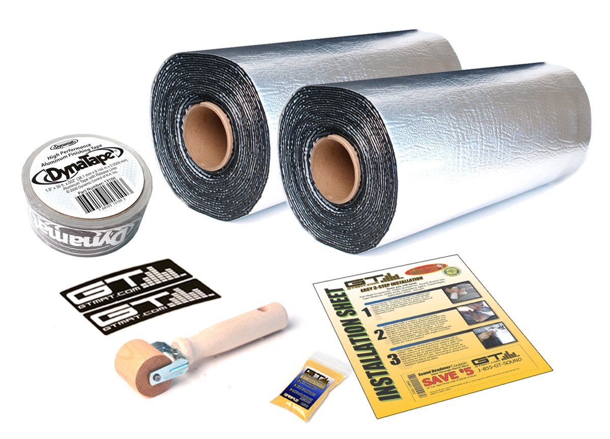 100 sqft GTmat Pro 50mil Rolls (18'' x 33.3') Automotive Audio Sound Deadener Deadening Noise Dampener with Genuine Dynamat Tape