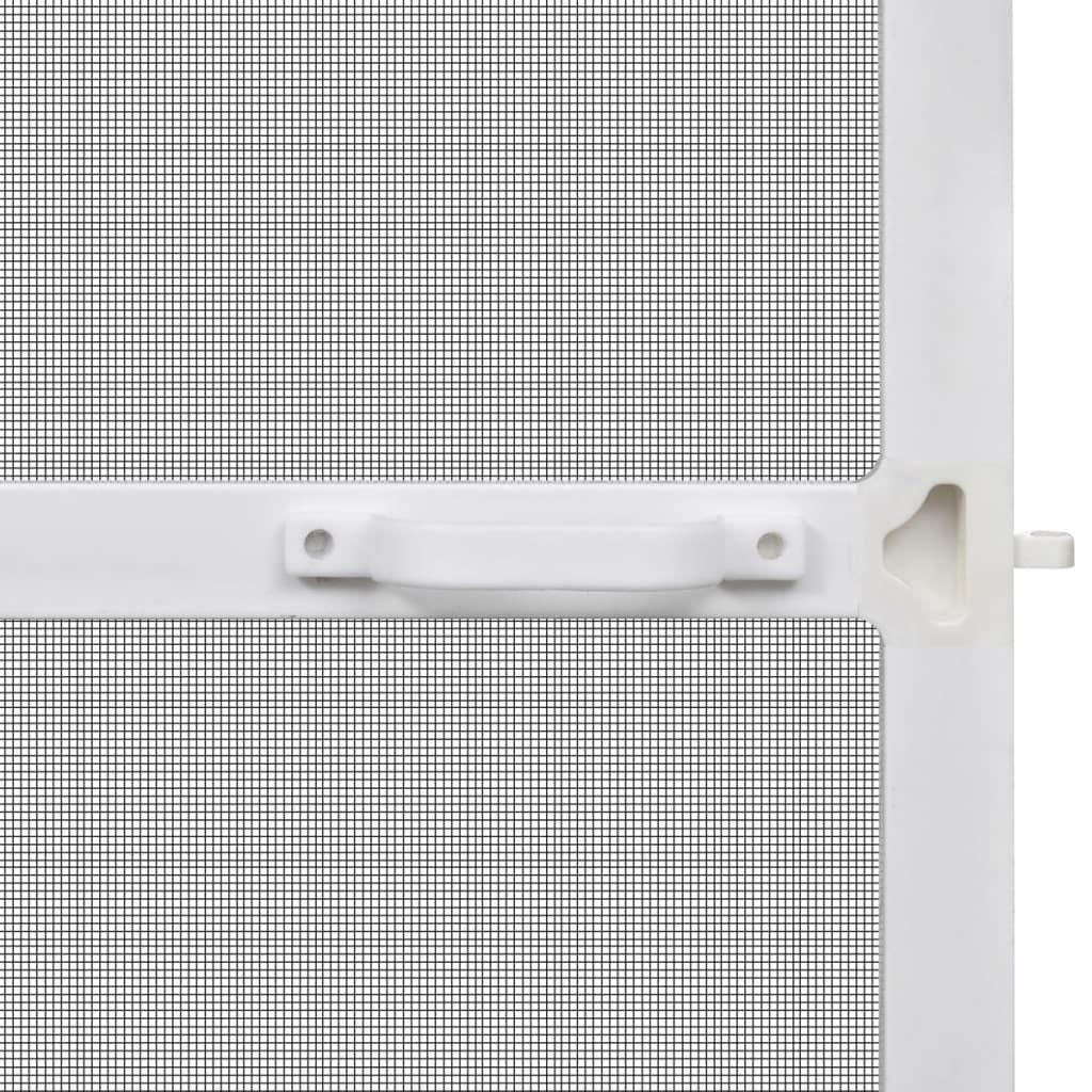 vidaXL Mosquitera Fija Puertas Abatibles Blanca 100x215cm Malla Anti Mosquitos