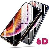iPhoneX/iPhoneXS ガラスフィルム アイフォンX 6D強化ガラス 液晶全面保護 フィルム「業界最高硬度9H / ガイド枠付き/抗菌/防指紋/気泡ゼロ/高感度タッチ」アップルiPhone XS/X 5.8インチ-1パック [並行輸入品]