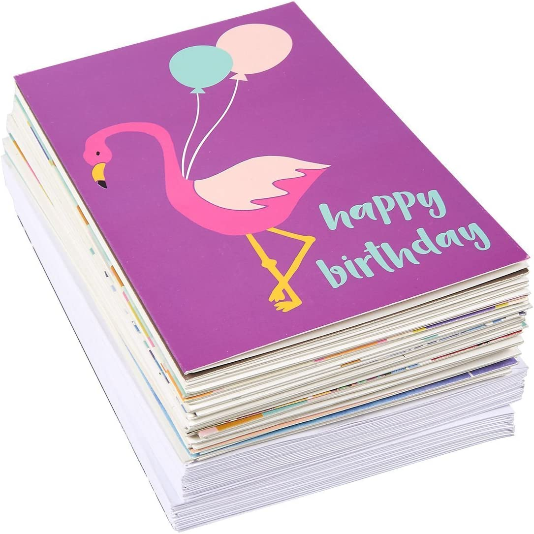 Happy Birthday Cards Birthday Card Envelopes Included Unique Assorted Designs Blank on the Inside Birthday Card Bulk 4 x 6 Inches 36-Pack Birthday Cards Box Set