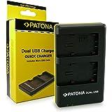 PATONA Dual Chargeur VW-VBT190 VBT-380 pour Panasonic HC V110 V120 V160 V210 V270 V510 V520 V710 V720 V727EB V750EB V770EB VX870 VX989 VXF999 W570 W580 W850EB HDC H100 H85 HS60 avec micro USB