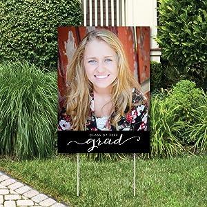 Custom Graduation Photo Yard Sign