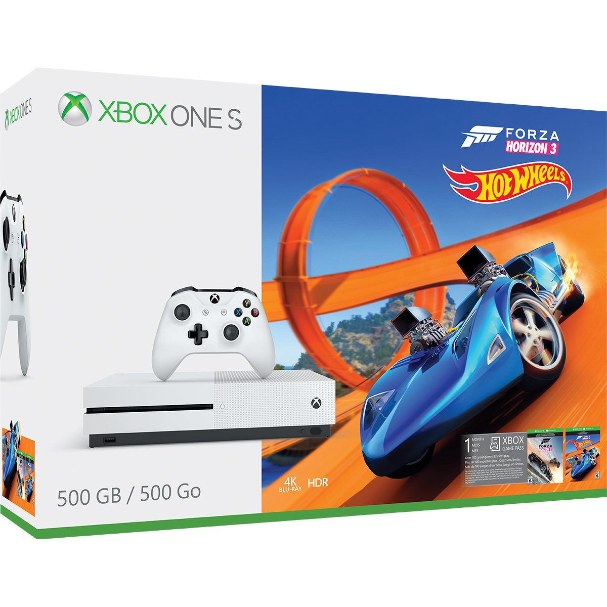 Xbox One S 500GB Console - Forza Horizon 3 Hot Wheels Bundle
