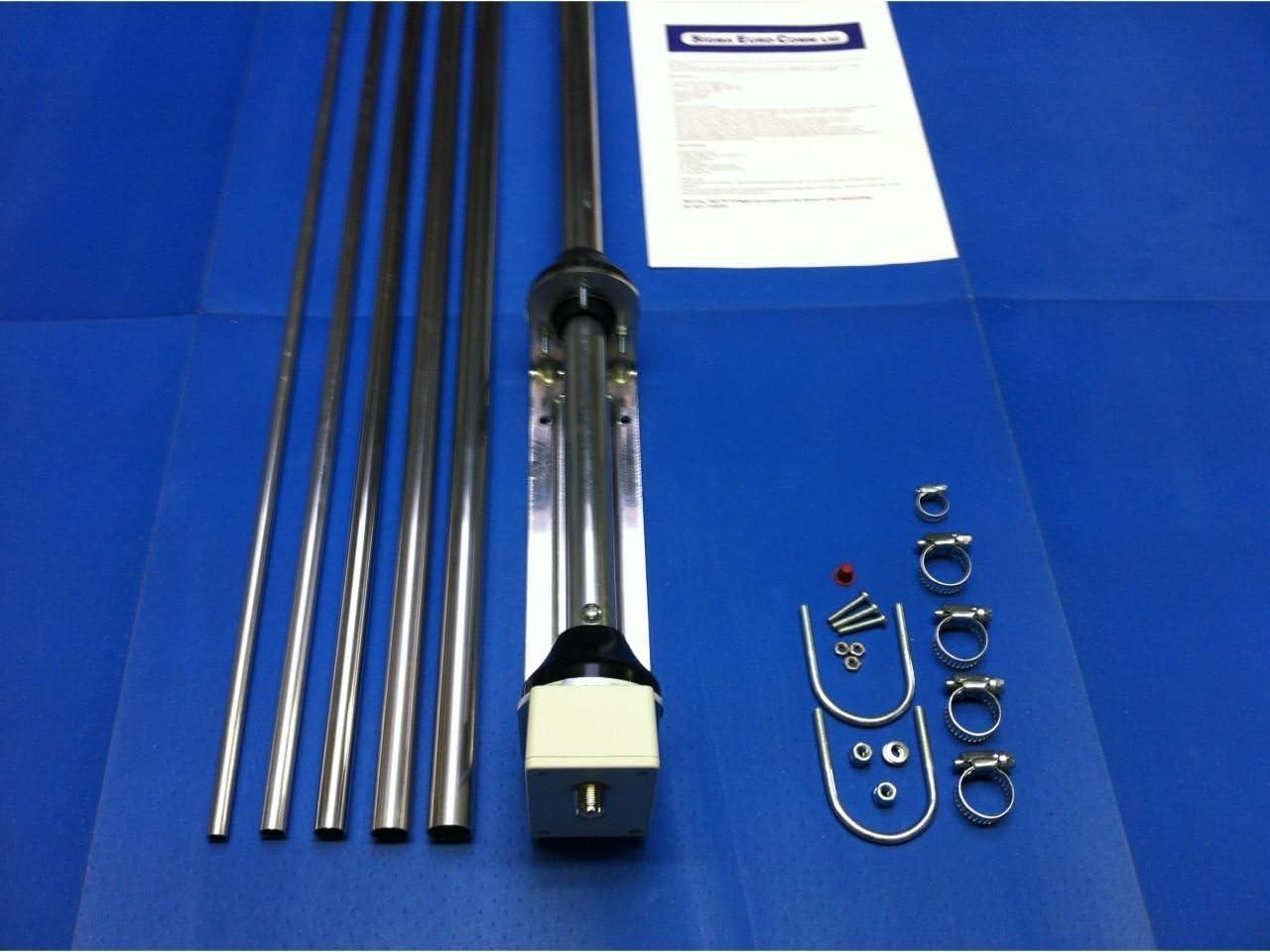 Sigma EUROCOM SE-HF-X80 - Antena Vertical sin radiales, de 80 a 6 m