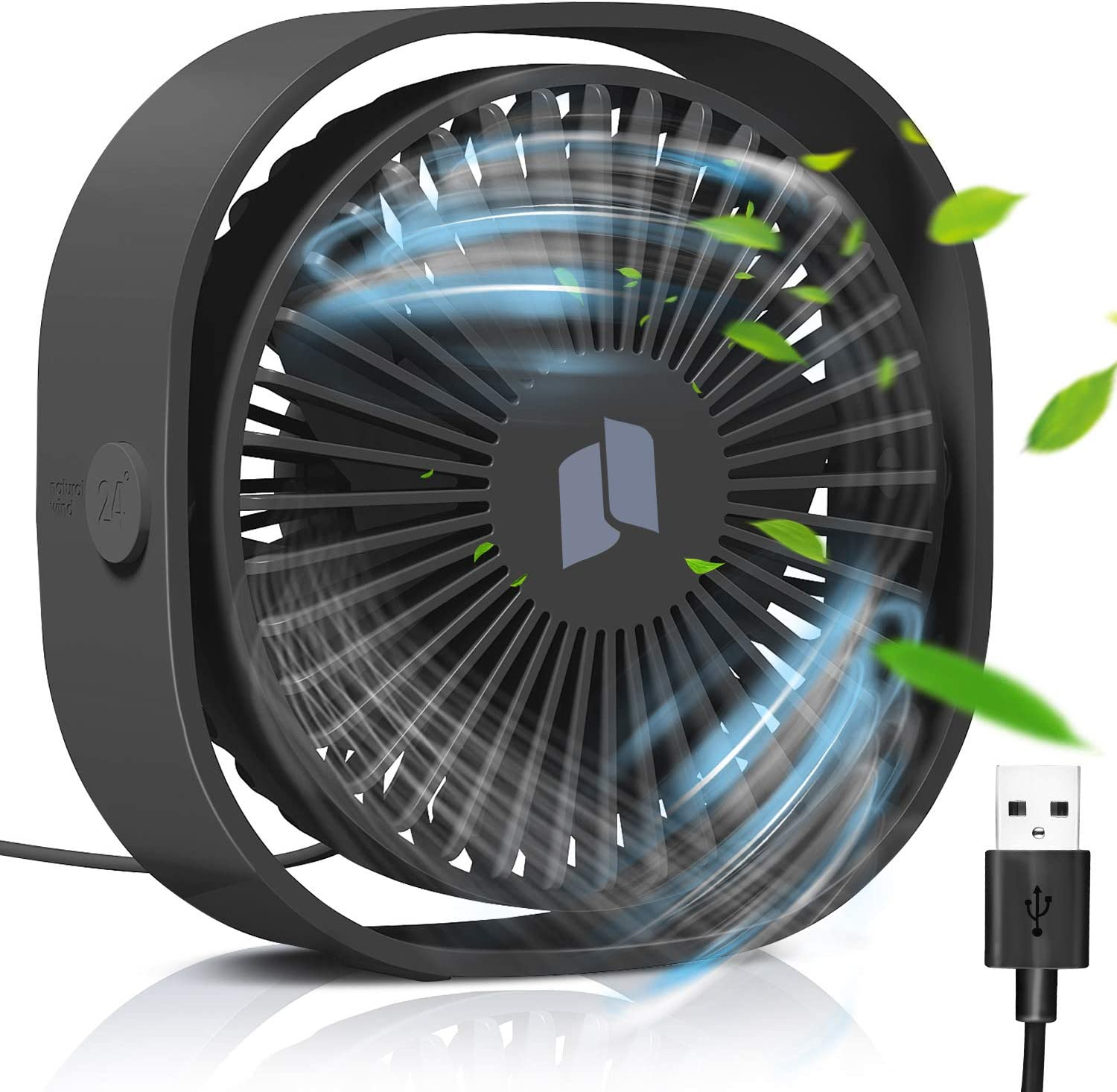 Gafild USB Desk Fan, Small Table Personal Portable Mini Fan with Enhanced Airflow, 3 Speeds Perfect Personal Cooling Fan for Home Office Table