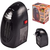 Negro ACLBB Mini Enchufe LED Calentador El/éctrico Hogar Calentador De Aire El/éctrico Port/átil 500 W Hotel,Tal como SE VE EN TV Oficina