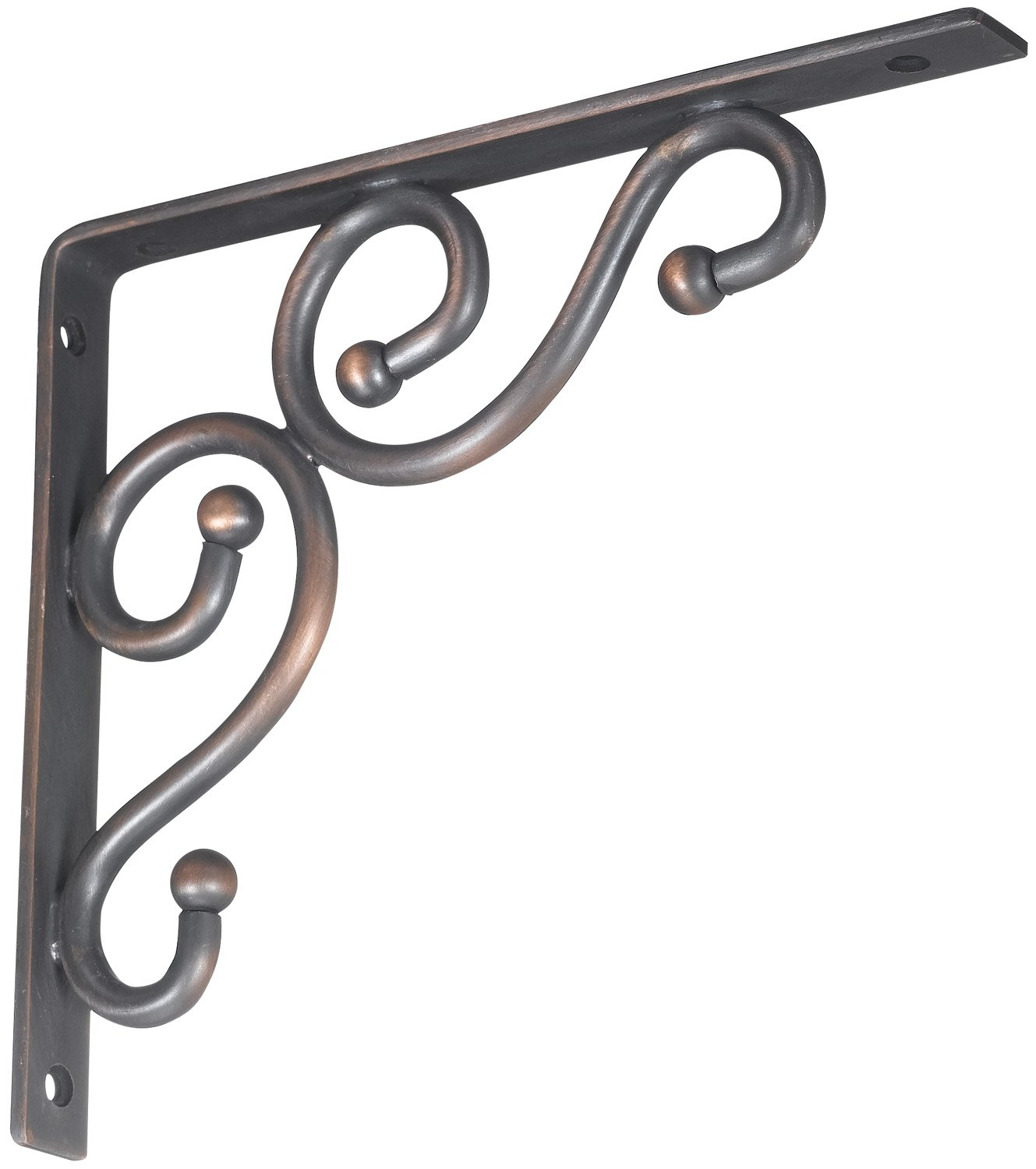 Stanley Hardware S250-592 773 Ornamental Shelf Brackets in Antique Bronze, 7'' x 8''