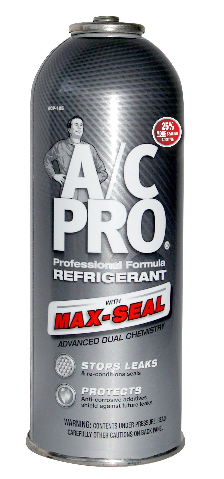 Interdynamics A/C Pro ACP-105 Refrigerant With Max-Seal (12 ounces) by Interdynamics