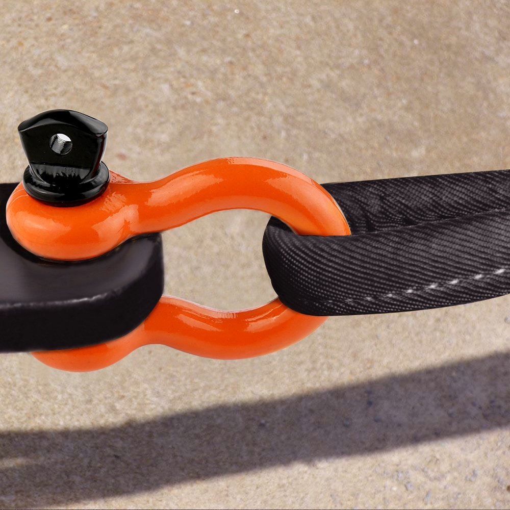 LIBERRWAY Shackles 3/4'' (2 Pack) D Ring Shackle Rugged Off Road Shackles 28.5 Ton (57,000 lbs) Maximum Break Strength with 7/8'' Pin Heavy Duty D Ring for Jeep Vehicle Recovery, Orange by LIBERRWAY (Image #6)