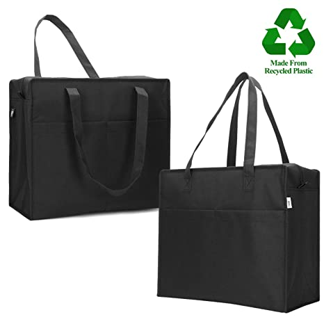 fb21fd8d9cc5 VENO Insulated Grocery Bag, Large 7.5 Gallon Capacity Collapsible Cooler  Bag For Hot Or Cold Food While Traveling, Grocery Shopping Carry Basket, ...