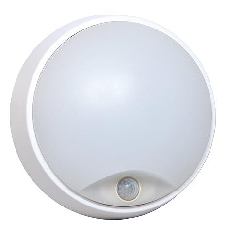 Tibelec 342210 – ojo de buey LED redondo con detector de movimiento, plástico, 10