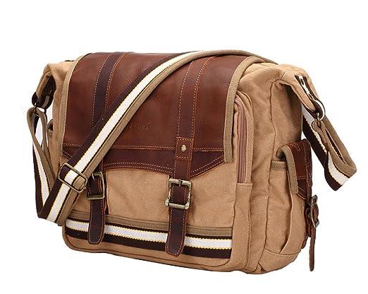 2 opinioni per E-Bestar Borsa uomo donna unisex a tracolla spalla tasca cartella Shoulder Bag