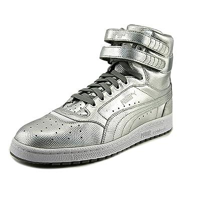 Puma Sky II Hi Holo Men US 8 Silver Basketball Shoe
