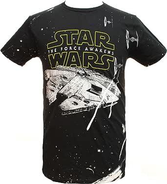 Star Wars Men's Adult Millennium Falcon Space Battle Licensed T-Shirt