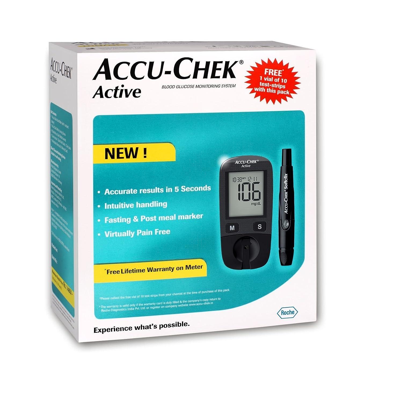 Amazon Com Accu Chek Active Blood Glucose Meter Kit Multicolor