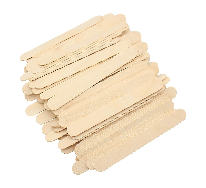 Naturholz L/änge 20,3 cm Riesengro/ße und -breite Mehrzweck-Holz-F/ächergriffe f/ür Hochzeit 100 St/ück. Lebensmittel Sch/önheitspflege und mehr f/ür Bastelarbeiten Bastelarbeiten