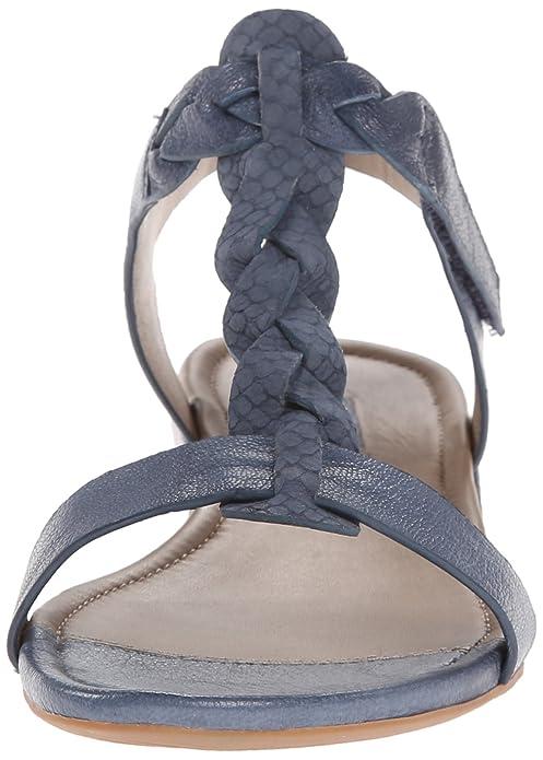 Ecco Bouillon Sandale Damen Sandaletten blau denim: Amazon