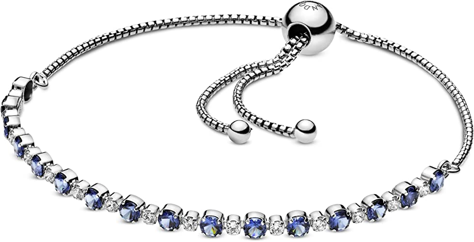 Pandora Jewelry Sparkle Slider Cubic Zirconia Bracelet in Sterling Silver