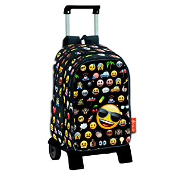 Emoji Icon - Mochila de bolsillos intercambiables emoticonos con carro extraíble plegable: Amazon.es: Equipaje