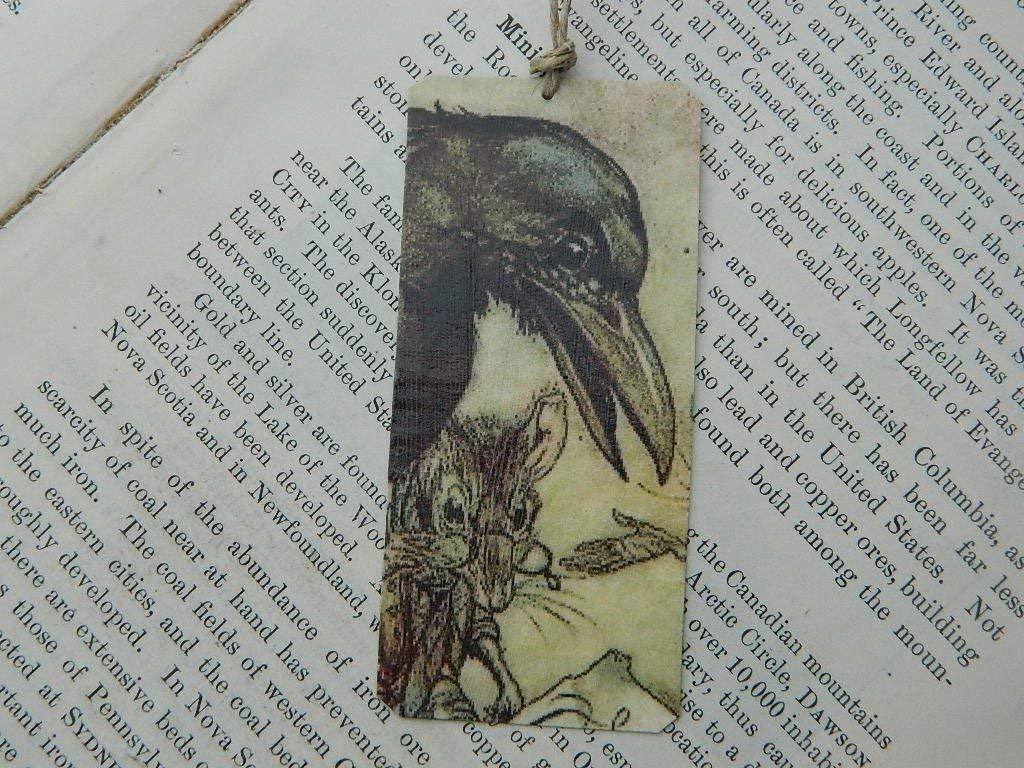 Arthur Rackham bookmark Art Bookmark Raven Bookmark metal bookmark