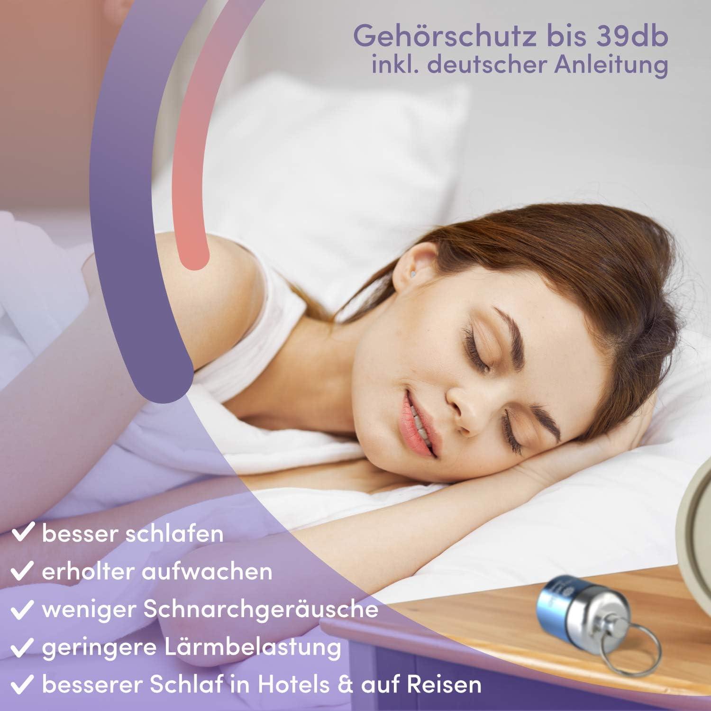 PEPELLIA/® Sleep bequemer Geh/örschutz f/ür Seitenschl/äfer Ultra softe Ohrenst/öpsel schlafen Ohrst/öpsel schlafen bis 39 db 2-lamellige Premium Geh/örschutzst/öpsel gegen Schnarchen /& L/ärm