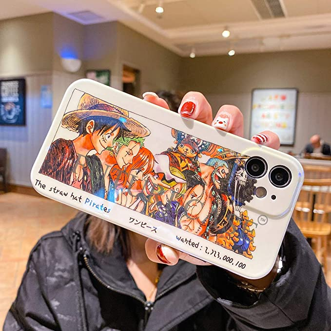 Amazon.com: FUTURECASE Anime One Piece Luffy Zoro Straw Hat Glossy Soft Case for iPhone 11 Pro Max 12 Pro Max Mini Manga Cartoon Covers (4, iPhone 12 Pro Max)