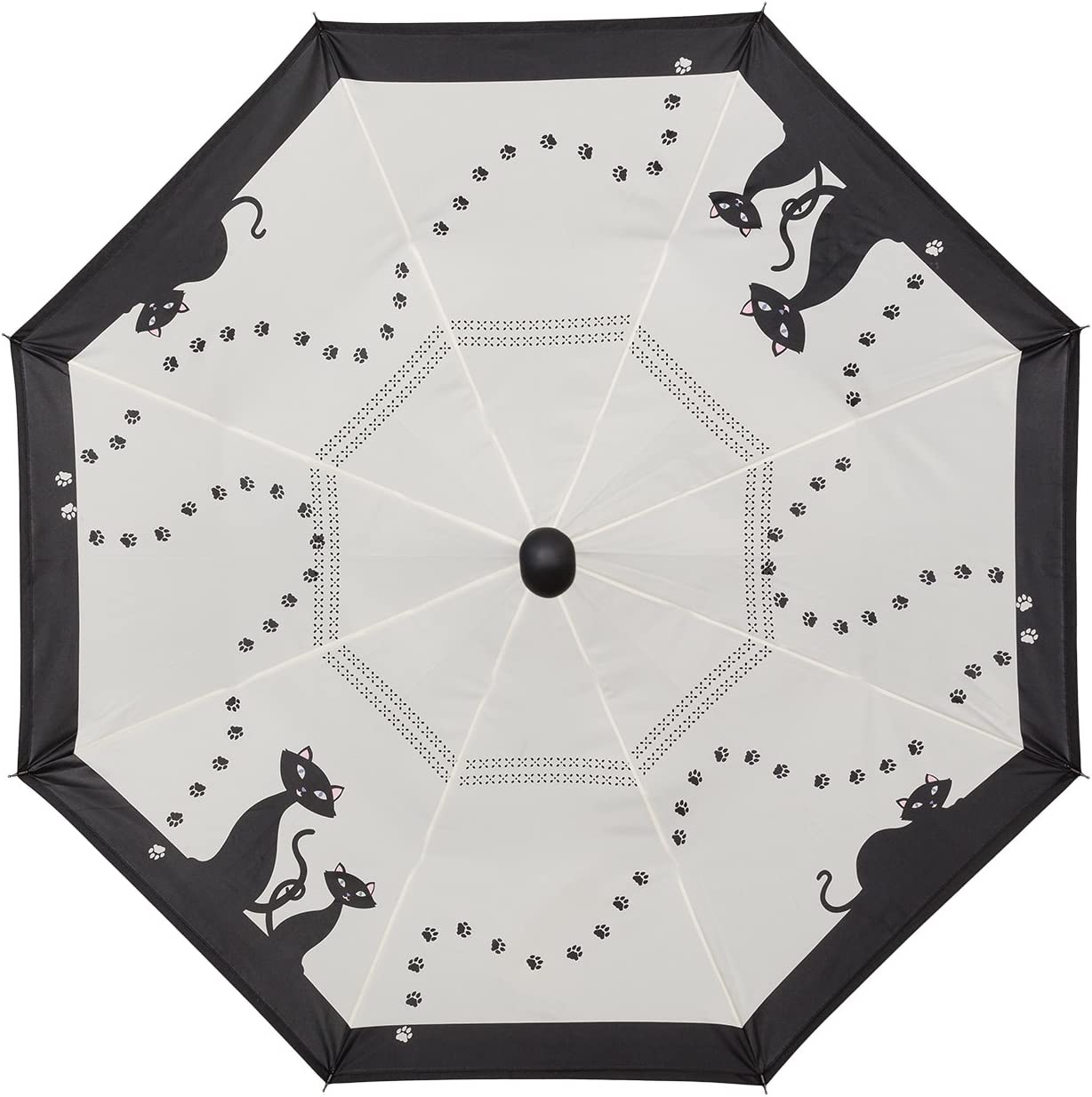 VON LILIENFELD/® Parapluie Stable Automatique Motif Chats Noirs Double /Éspaisseur