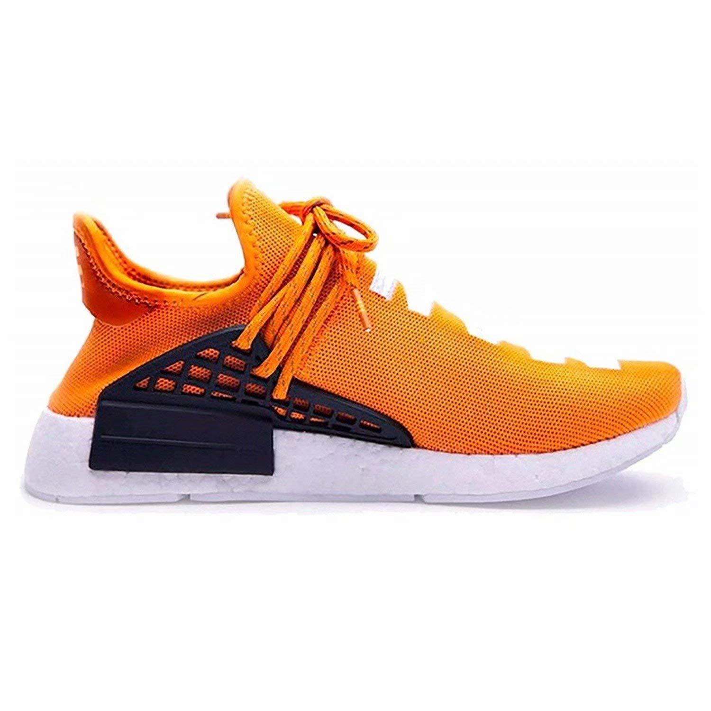 Men's Race Casual Breathable Lightweight Trail Human Race Men's Pharrell schuhe Free Fashion Turnschuhe Orange EU43 c3541a