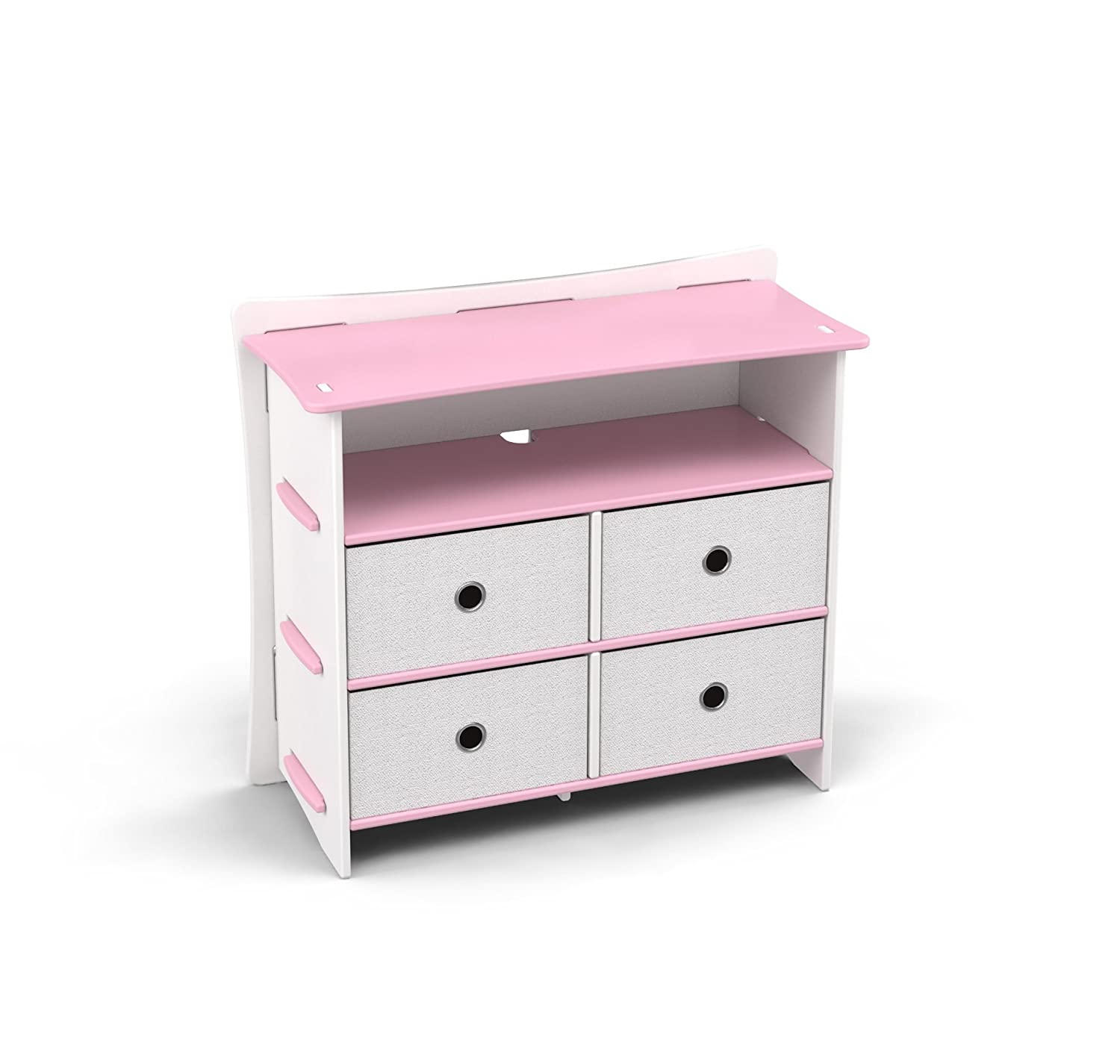 Attirant Amazon.com: Legaré Kids Furniture Princess Series Collection, No Tools  Assembly 4 Drawer Dresser, Pink And White: Kitchen U0026 Dining