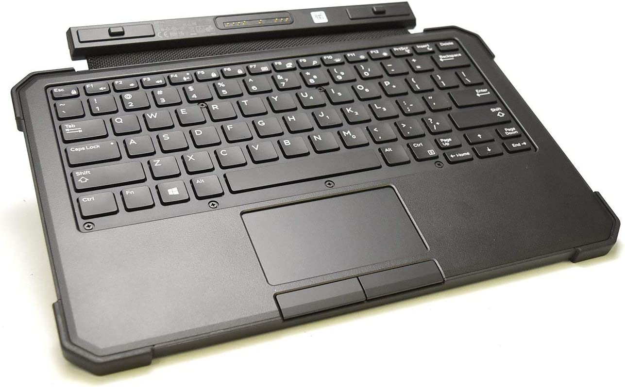 Dell G17CY BlackLit Keyboard For Latitude 12 Rugged 7202 11.6 Inch Tablet Mouse Pad Rubberized None Slip Feet Rubber Model TH3HKYB (Renewed)