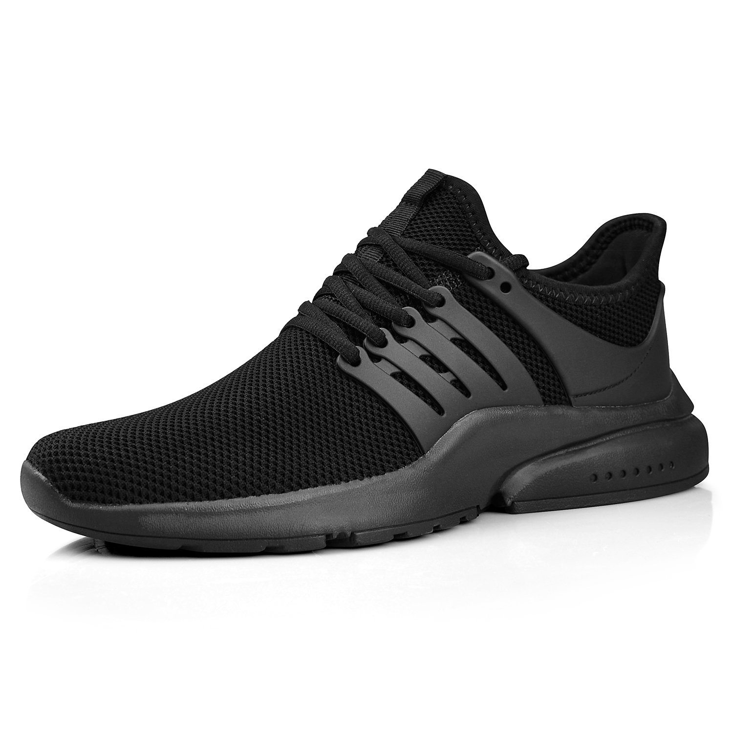 ZOCAVIA Womens Running Tennis Gym Shoes Lightweight Breathable Sport Fashion Knit Athletic Casual Sneakers(Black,Size 8)