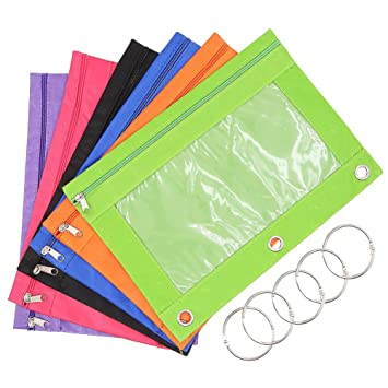 Three Rings Office For Pvc Zippered Binder Pouch For Three Ring Binders With Rings Assorted Colors Rings