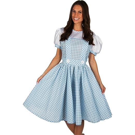 amazoncom adult dorothy wizard of oz dress costume clothing - Dorothy Halloween Costume Women