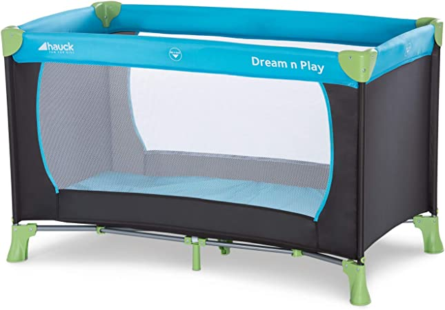 Comprar Hauck Dream N Play - Cuna de viaje 3 piezas 120 x 60 cm, bebe, incluido colchóncito y bolsa de transporte, de 0+ meses hasta 15 kg, plegado y montaje fácil, estructura ligera y muy estable, azul