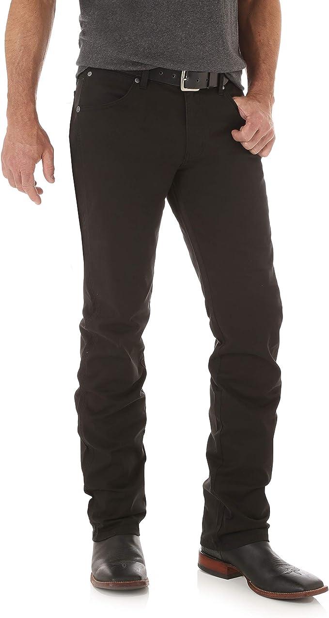 Wrangler Men's Retro Slim Fit Straight Leg Jean, Black, 38W x 36L at Amazon Men's Clothing store